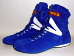 Momo RSH02 Blue Hi Top Nomex Driving shoes from Upgrade Motoring