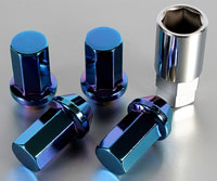 Project Kics Caliber 24 Titanium Coating Blue Edition Lug Nuts from Upgrade Motoring